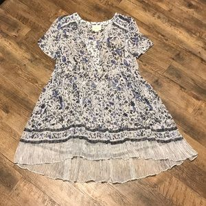 Anthropologie Maeve White & Blue Floral Dress 4